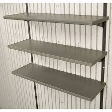 Rubbermaid Big Max Shed 7x7 by Rubbermaid Storage Shed Shelves Blue Carrot Com