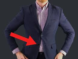 the reason you u0027re not supposed to use the bottom button on suits