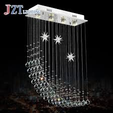Best Price Meals Chandeliers CreativeSquare Dining Room Bedroom Lamp LED Crystal Messenger Wire Sitting