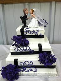 Purple And Black Wedding Cake Square On Central