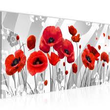 wandbild blumen mohnblume rot bild bilder schlafzimmer