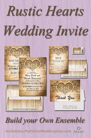 Country And Rustic Page 1 Of 6 Heart Wedding InvitationsWedding