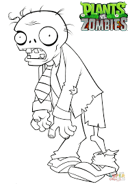 Zombie Coloring Pages Only LineArt New Plants Vs Zombies 2 Napisyme