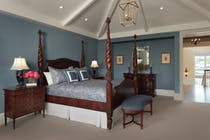 West Indies Style Bedroom Architectural Details French By CK Interior Design