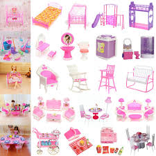 DIY Plastic Doll House Furniture Living Room Sofa Bed Dressing Table
