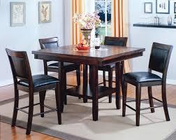 Fulton Walnut Pub Style Dining Room Table Set