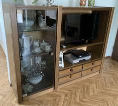 hülsta tv wand schrank vitrine holz wohnzimmer kommode np 2800