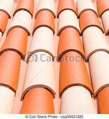 up of style clay roof tiles up of stock
