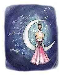 Shoot For The Moon Quote Prints Graduation Gift Her Fashion Wall