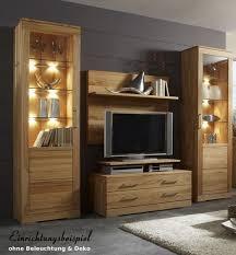 wohnwand wohnzimmerwand wohnzimmer vitrinen kernbuche massiv geölt natur lanatura