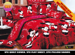 Minnie Mouse Bedroom Decor by Red Color Mickey Minnie Mouse Bedding Set Disney Cartoon Bedspread