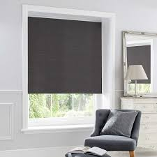 charcoal chenille thermal roller blind dunelm best blackout