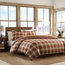 Eddie BauerR Edgewood Plaid Full Queen Comforter Set In Red