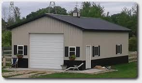 24′ x 36′ Pole Barn Garage Price Pole Building Kits