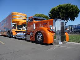 Pictures Trucks Peterbilt Orange Cars