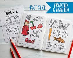 Colors Coloring Book Baby Shower Activity ABC Game