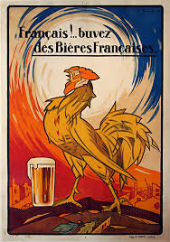 Rooster French Vintage Beer Poster