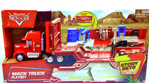 100 Cars Mack Truck Playset Disney Story Set And Radiator Springs