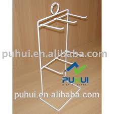 Retail Promotion Counter Wire Ornaments Hanging Display Rack With Hangers