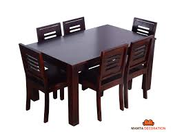 Mamta Decoration Sheesham Wood Wooden Dining Table With 6 Chairs ... Solid Wood Ding Table Fniture And Custom Upholstery By Kincaid Nc Stanley Modern Contemporary Chairs Room Blu Dot 26 Sets Big Small With Bench Seating 2019 Ideas 14 For Your Tables For Spaces Advice Board Before You Buy A Chair The Nook Casual Kitchen Ding Solution From Amazoncom Kitchen Set Of 2 Fabric Upholstered Richmond Handcrafted Rustic 10 Piece Daluwa