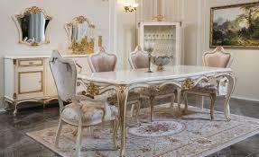 casa padrino luxus barock esszimmer set rosa weiß gold 1 esstisch 6 esszimmerstühle esszimmer möbel im barockstil edel prunkvoll