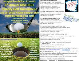Pumpkin Ridge Golf Ghost Creek by Imagine Possibilities Aim High Charity Golf Tournament 2017