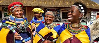 Ndebele Women In Traditional Dress Mpumalanga South Africa