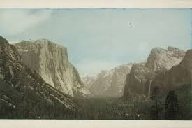 Yosemite Valley From Tunnel View Ca 1930 Gelatin Silver Print With Applied Color George Eastman Museum Gift Of Peter J Cohen