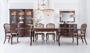 klassischer antik stil esstisch wohnzimmer holz tische 100x190 270cm big neu