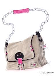 Fashion Illustration Of A Bag Learn How To Draw Accessories