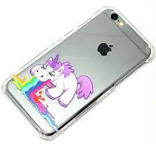 Unicorn Barf Throw Up Clear Phone Case iPhone 6 7 SE 6