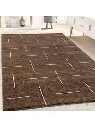 paco home designer teppich wohnzimmer modernes design in braun weiß meliert klingel