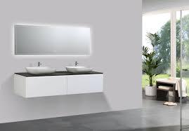 badmöbel set 1500 weiß matt sideboard und