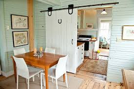 View In Gallery Sliding Barn Doors Are A Space Saver The Small Dining Room From