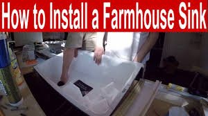 Kohler Whitehaven Farmhouse Sink by How To Install A Kohler Whitehaven Farmhouse Sink Youtube