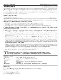 Example Information Technology Consultant Resume Sample Management
