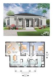100 Modern House Blueprint Plan 76437 Total Living Area 1007 Sq Ft 2