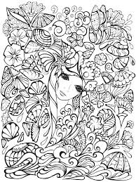 Creative Haven Fanciful Faces Colouring Book