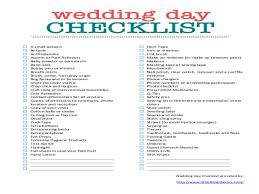 Wedding Day Emergency Kit Checklist Free Printable