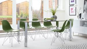 100 6 Chairs For Dining Room Contemporary Glass Seater Table And Eames