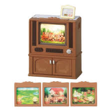 sylvanian families luxury color tv without batteries 2x aaa wardrobe living room 2924 at about tea de shop