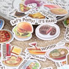 scrapbooking cuisine 40pcs food words scrapbooking stickers diy craft
