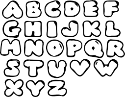 Bubble Letter New Picture Alphabet Coloring Pages