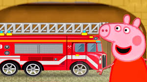 Peppa Pig Fire Trucks Wash Cartoons For Children Videos For Kids ...