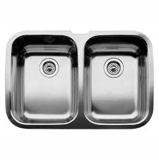 Home Depot Kitchen Sinks In Stock by Kohler Ballad Undermount Stainless Steel 32 In 50 50 Double Bowl
