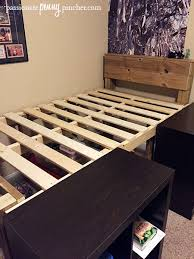 DIY Platform Storage Bed A Bud