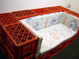 Milk Crate Sitting Area For The Basement Or Garage Even A Kids Room