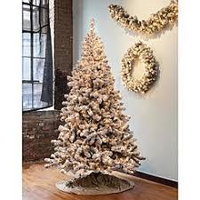 GKI BETHLEHEM LIGHTING 75 Brown Pre Lit Snowy Pine Flocked Medium Artificial Christmas