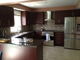Kitchen Backsplash Ideas With Dark Oak Cabinets by Pine Wood Bordeaux Lasalle Door Kitchen Paint Colors With Oak