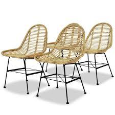 esszimmerstühle küchenstuhl 4er set natur rattan